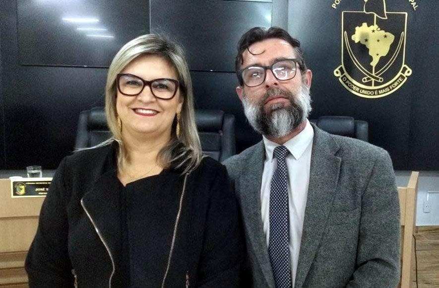 Jane Stefenn (REDE) e Ângelo César Gervásio (MDB) autores da proposta